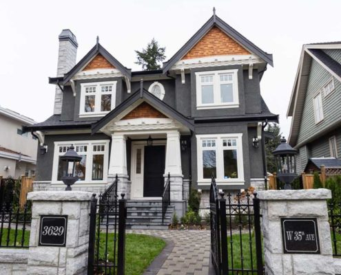 Front of this new traditional executive home.