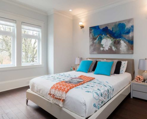 Another bedroom in this Vancouver custom home.