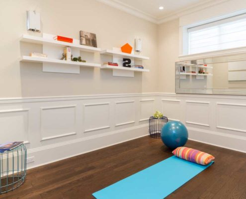 Yoga room for active living.