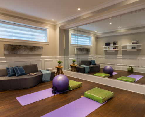 Yoga room in Vancouver home.