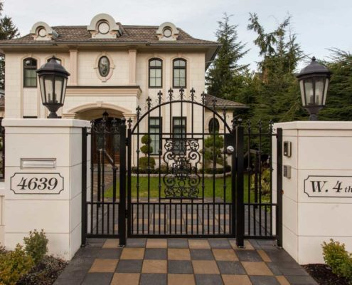 Gates in front of this Kitsilano house.